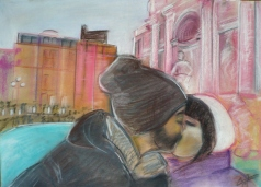 Pareja en Roma
